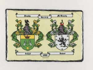 Canvas Double Coat of Arms